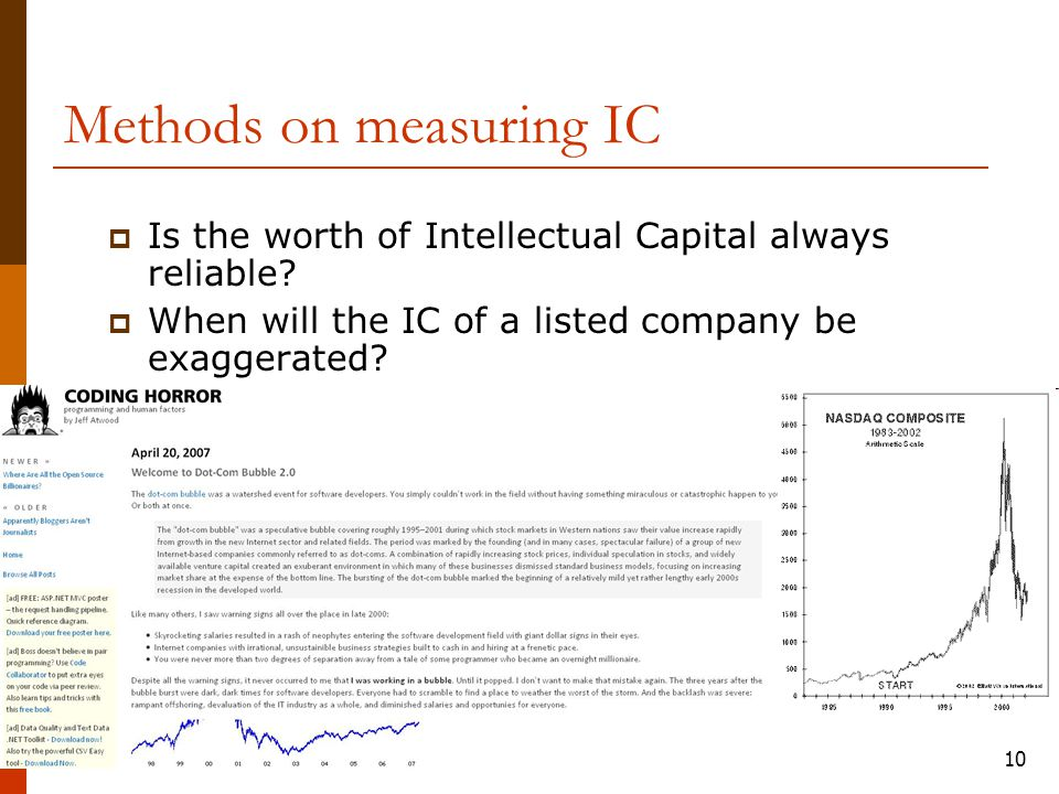 10  Is the worth of Intellectual Capital always reliable.