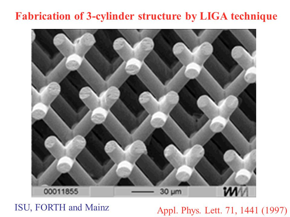Fabrication of 3-cylinder structure by LIGA technique Appl.