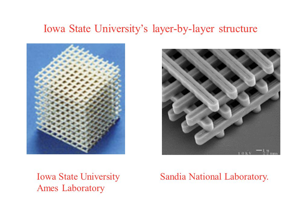 Iowa State University's layer-by-layer structure Sandia National Laboratory.Iowa State University Ames Laboratory
