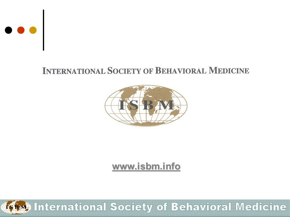 What is the International Society of Behavioral Medicine (ISBM).