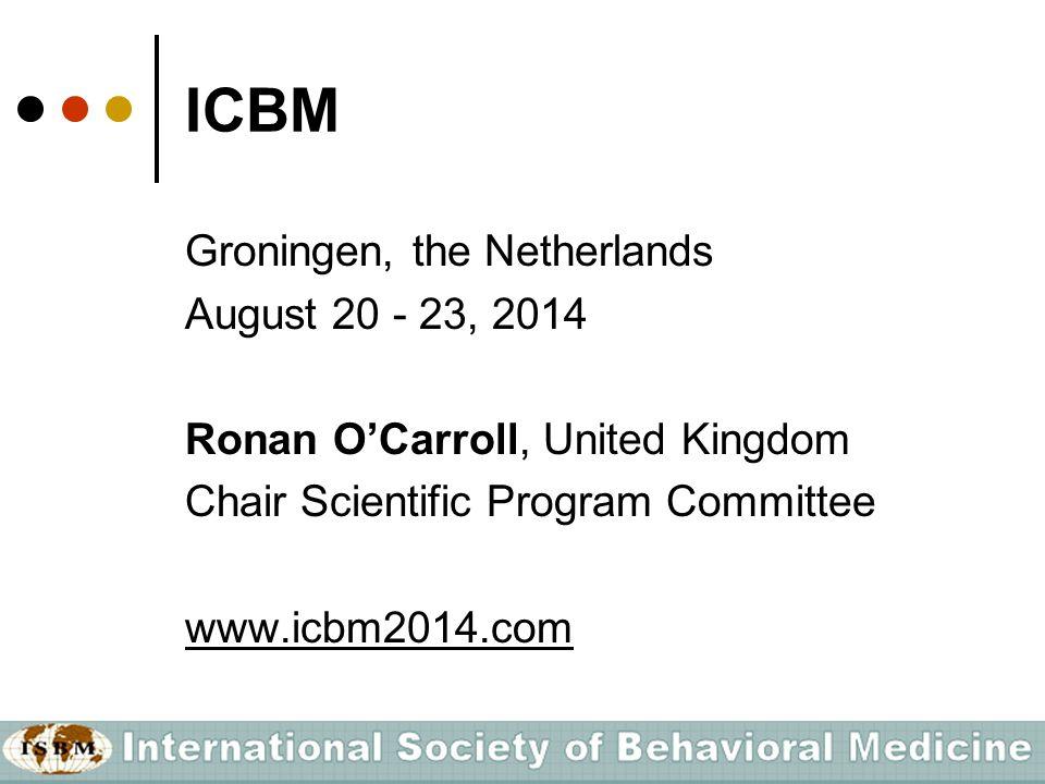 IJBM Christina Lee, Australia Editor-in-Chief ● Biobehavioral mechanisms ● Clinical studies ● Public health, health promotion and prevention Free access ISBM/SBM members www.isbm.info IJBM Username: ijbm Password: ijbm2008