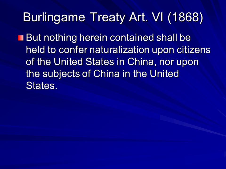 Chinese Exclusion Act of 1882 Be it enacted, That from and after the expiration of ninety days next after the passage of this act, and until the expiration of ten years next after the passage of this act, the coming of Chinese laborers to the United States be,...