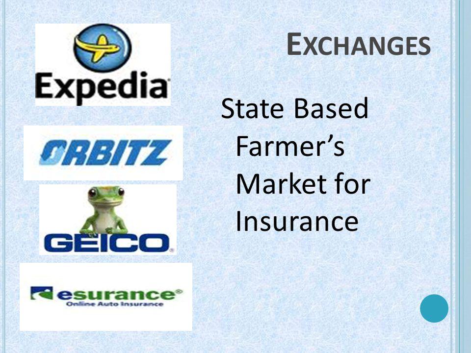 E XCHANGES State Based Farmer's Market for Insurance