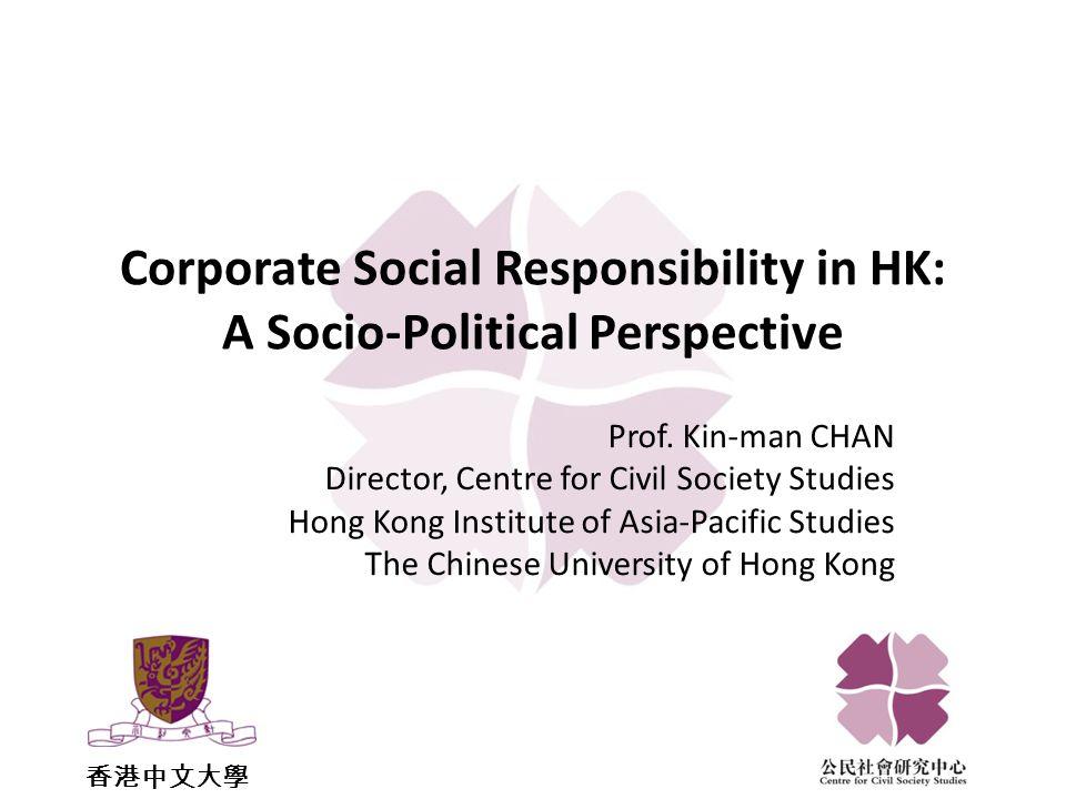 Data on Corporate Social Responsibility in HK CSR Survey of Hang Seng Index Constituent Companies 2009 – Oxfam Hong Kong Caring Company Scheme – Hong Kong Council of Social Service