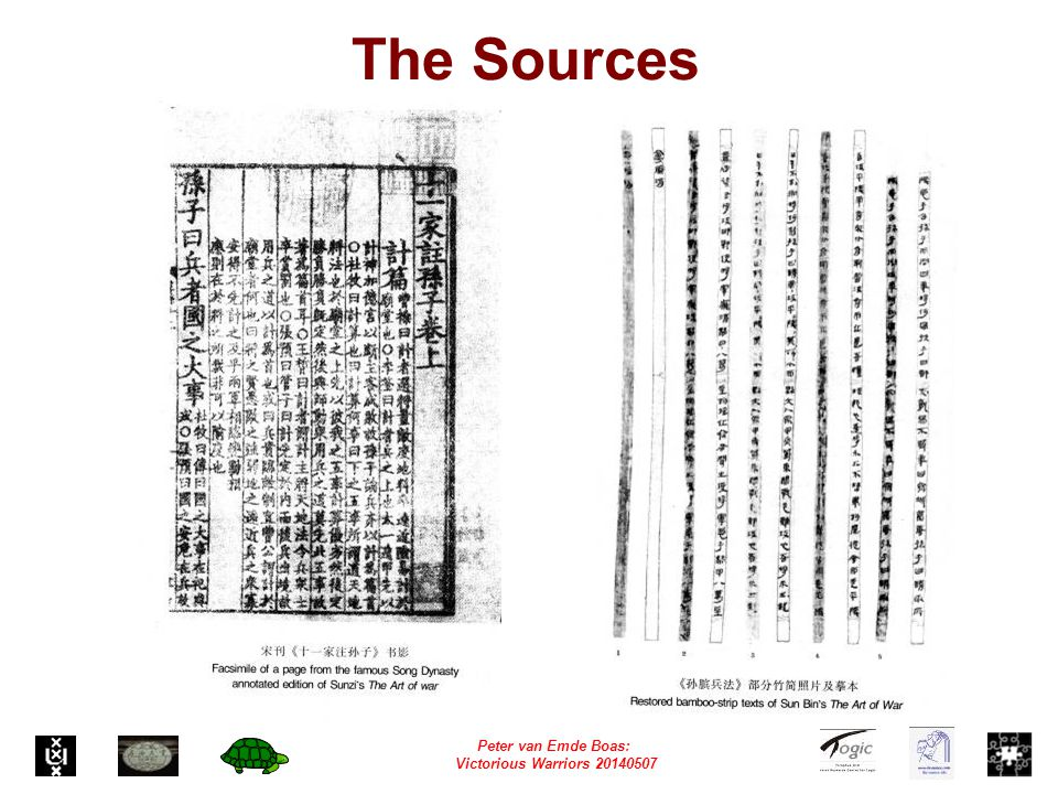 Peter van Emde Boas: Victorious Warriors 20140507 The Sources