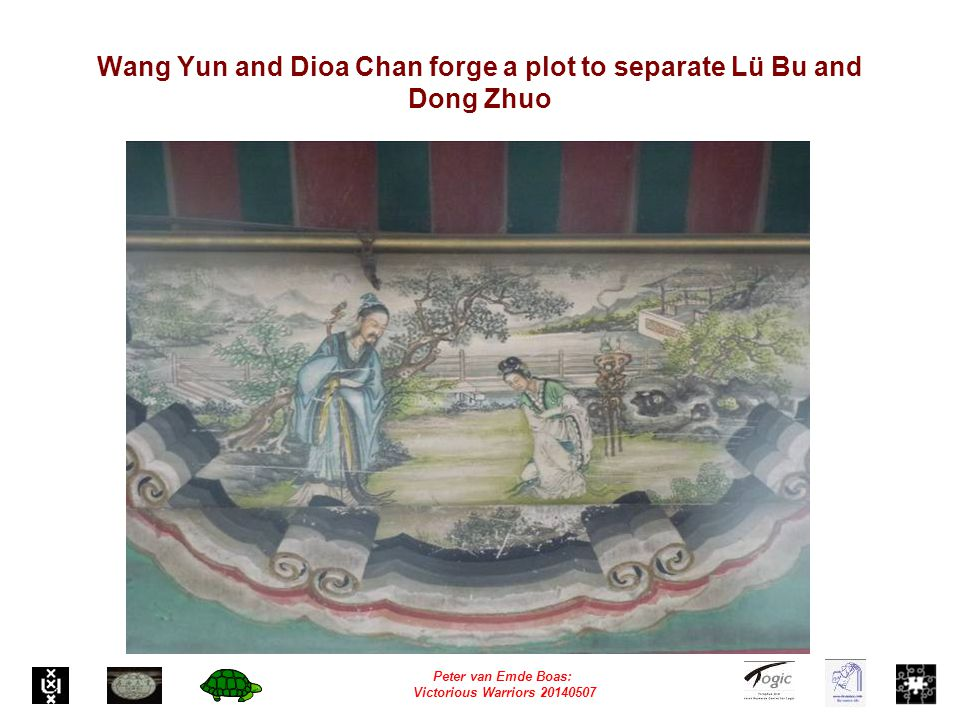 Peter van Emde Boas: Victorious Warriors 20140507 Wang Yun and Dioa Chan forge a plot to separate Lü Bu and Dong Zhuo