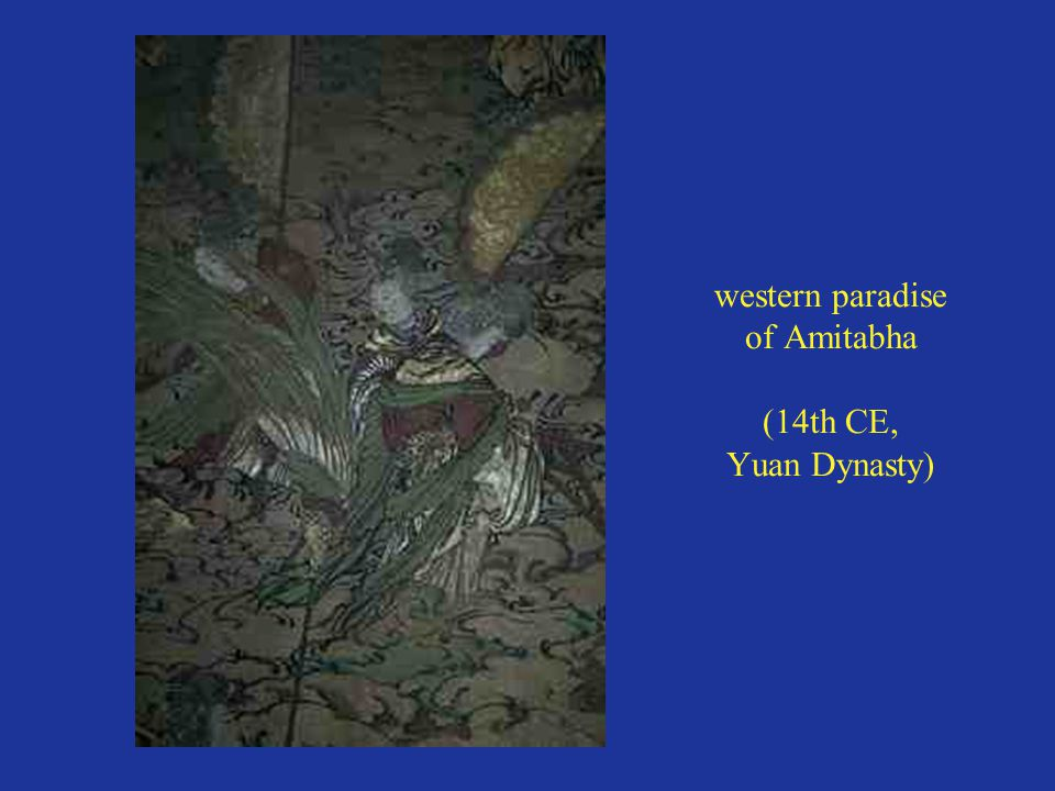 western paradise of Amitabha (14th CE, Yuan Dynasty)