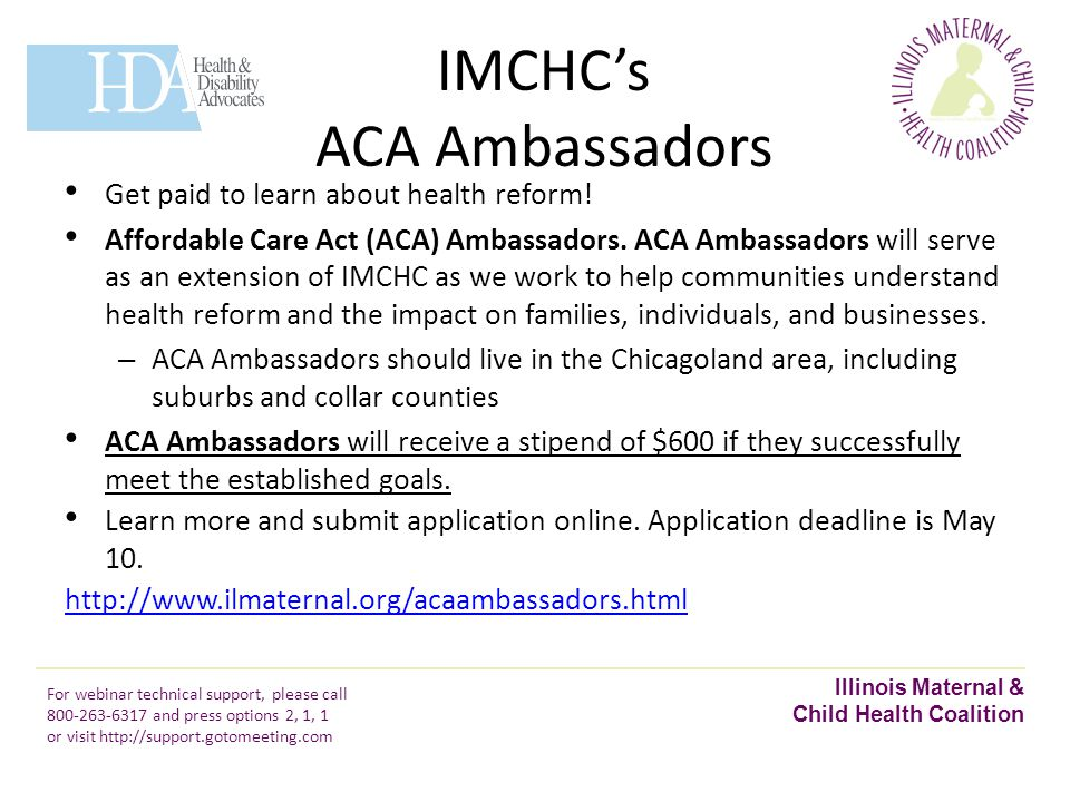IMCHC's ACA Ambassadors Get paid to learn about health reform.