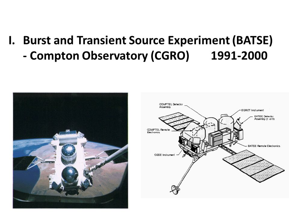 I.Burst and Transient Source Experiment (BATSE) - Compton Observatory (CGRO) 1991-2000