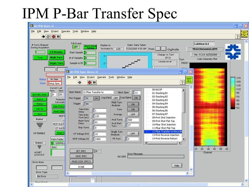 IPM P-Bar Shot Spec