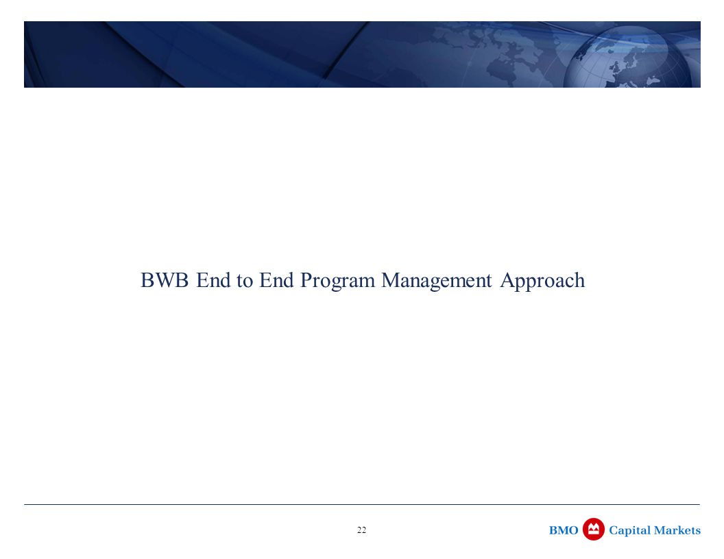 22 BWB End to End Program Management Approach