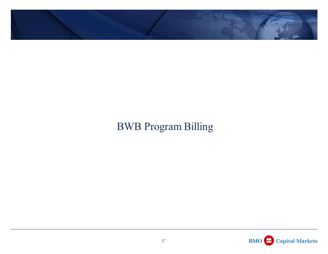 37 BWB Program Billing