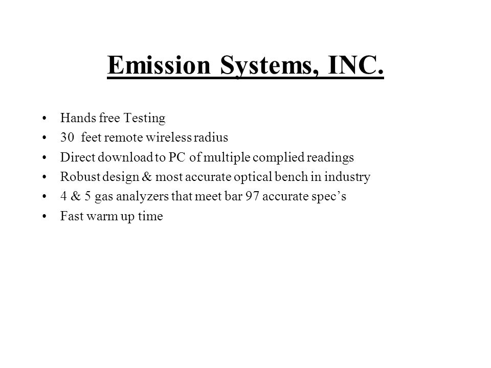 Emission Systems, INC.