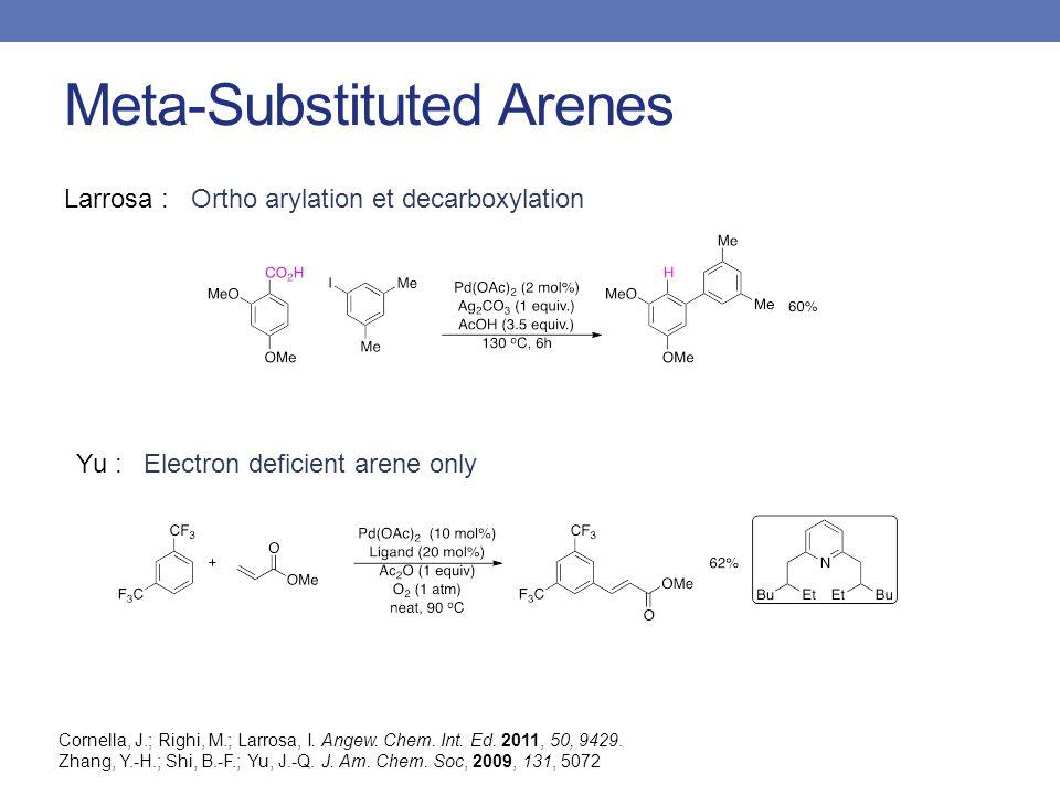 Meta-Substituted Arenes Larrosa : Cornella, J.; Righi, M.; Larrosa, I.