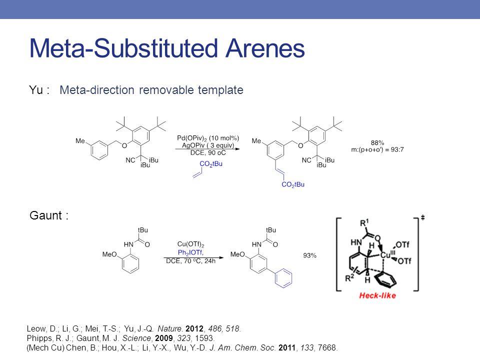 Meta-Substituted Arenes Yu : Leow, D.; Li, G.; Mei, T.-S.; Yu, J.-Q.