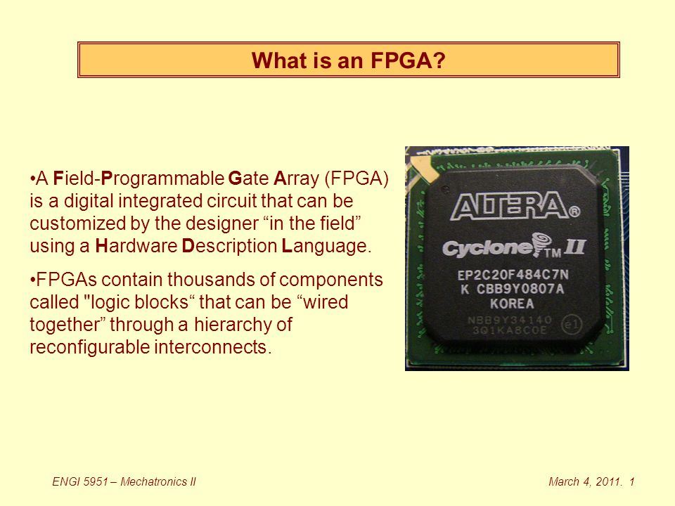 What is an FPGA.