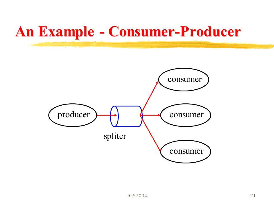 ICS200421 An Example - Consumer-Producer producerconsumer spliter