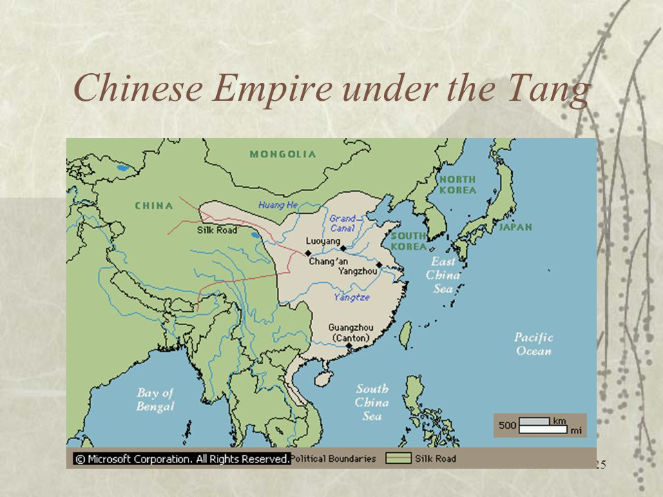 25 Chinese Empire under the Tang