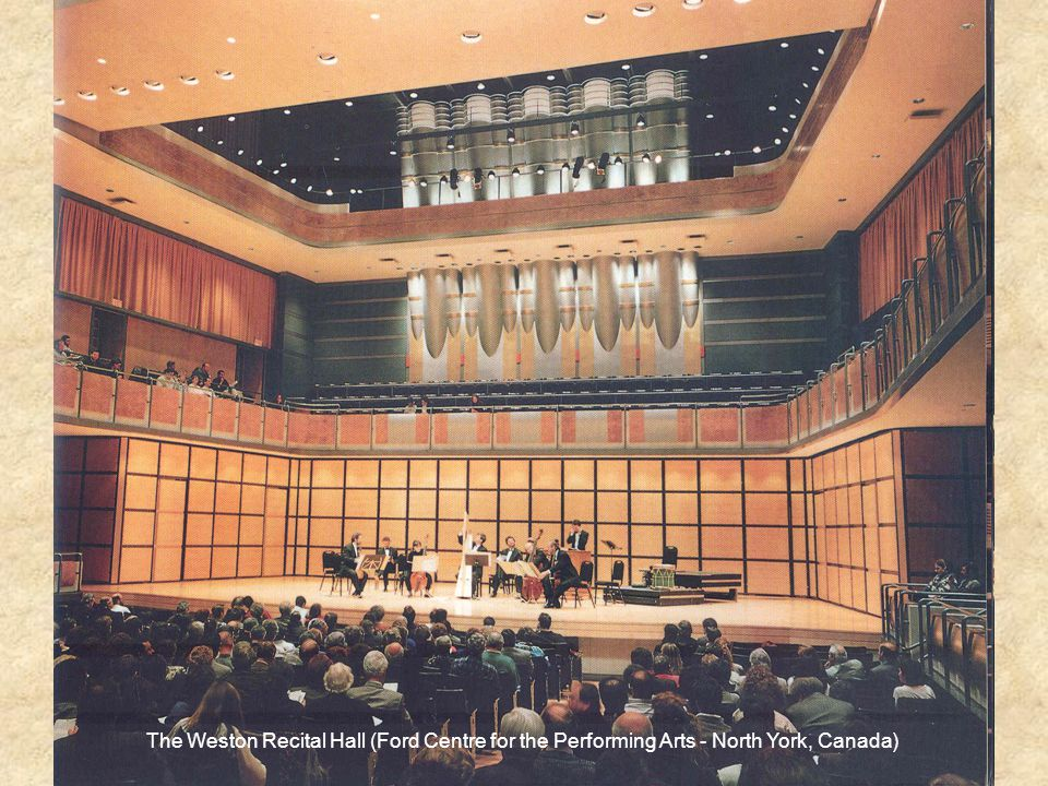 The Weston Recital Hall (Ford Centre for the Performing Arts - North York, Canada)