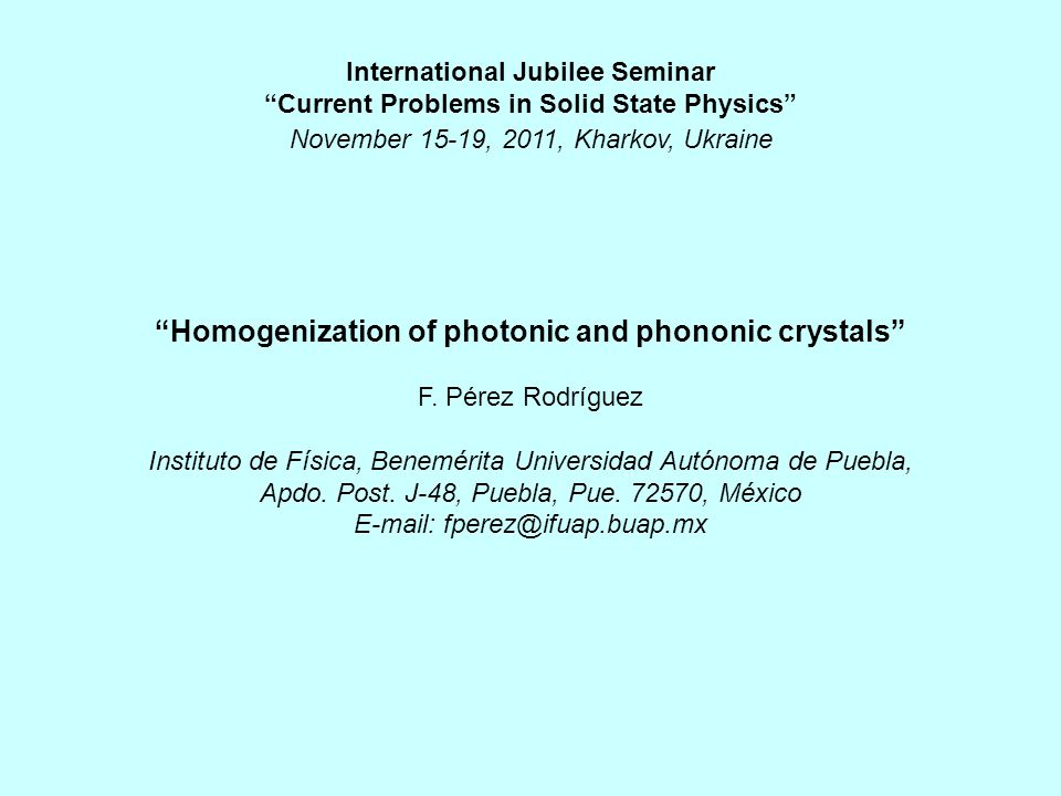 Homogenization of photonic and phononic crystals F.