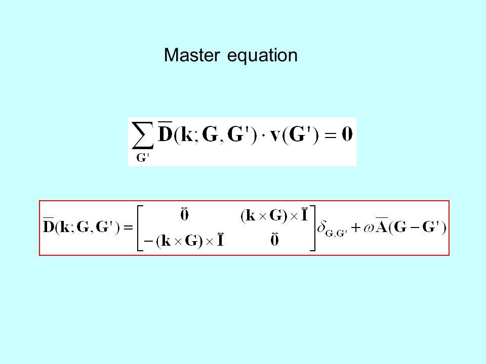 Master equation