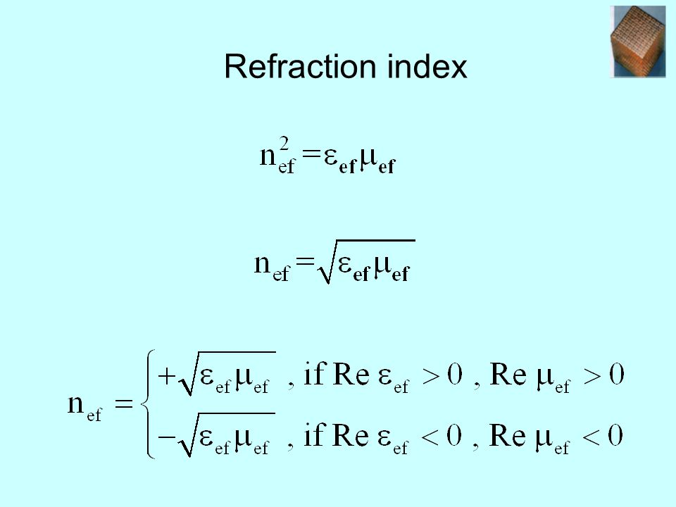 Refraction index