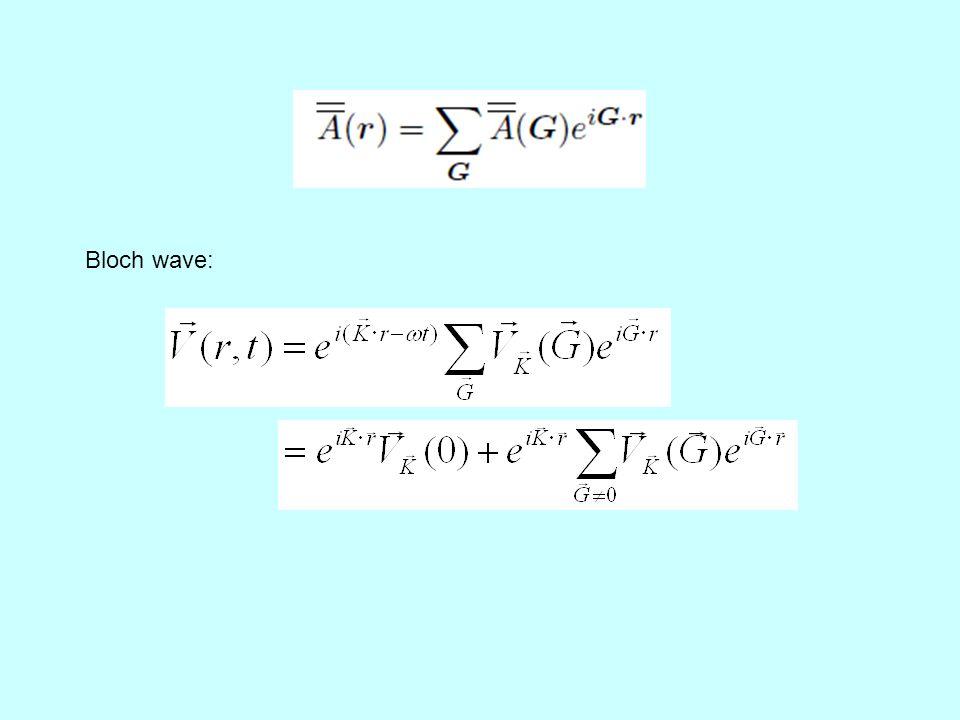 Bloch wave: