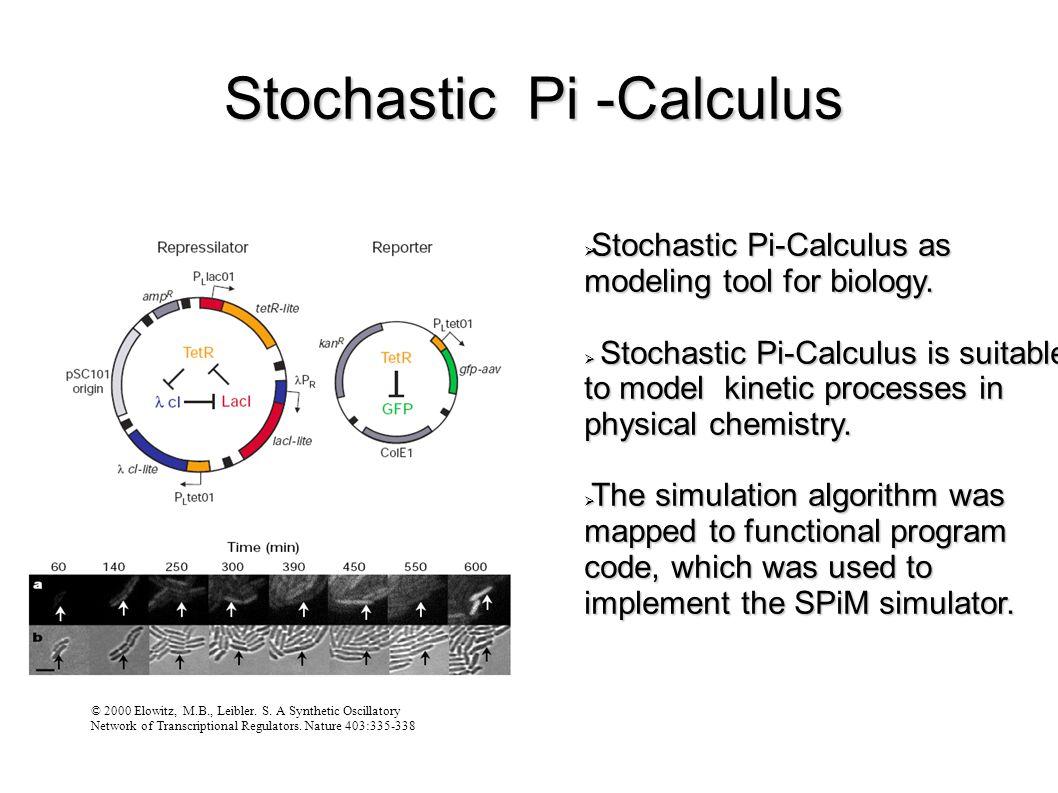 Stochastic Pi -Calculus © 2000 Elowitz, M.B., Leibler.