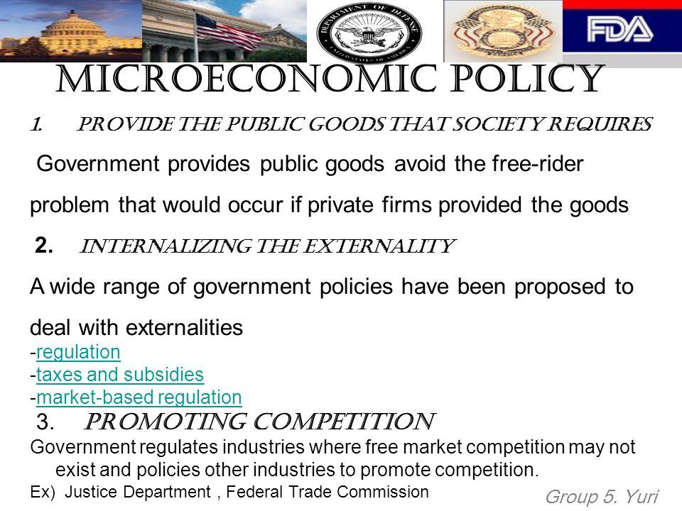 Microeconomic Policy 1.