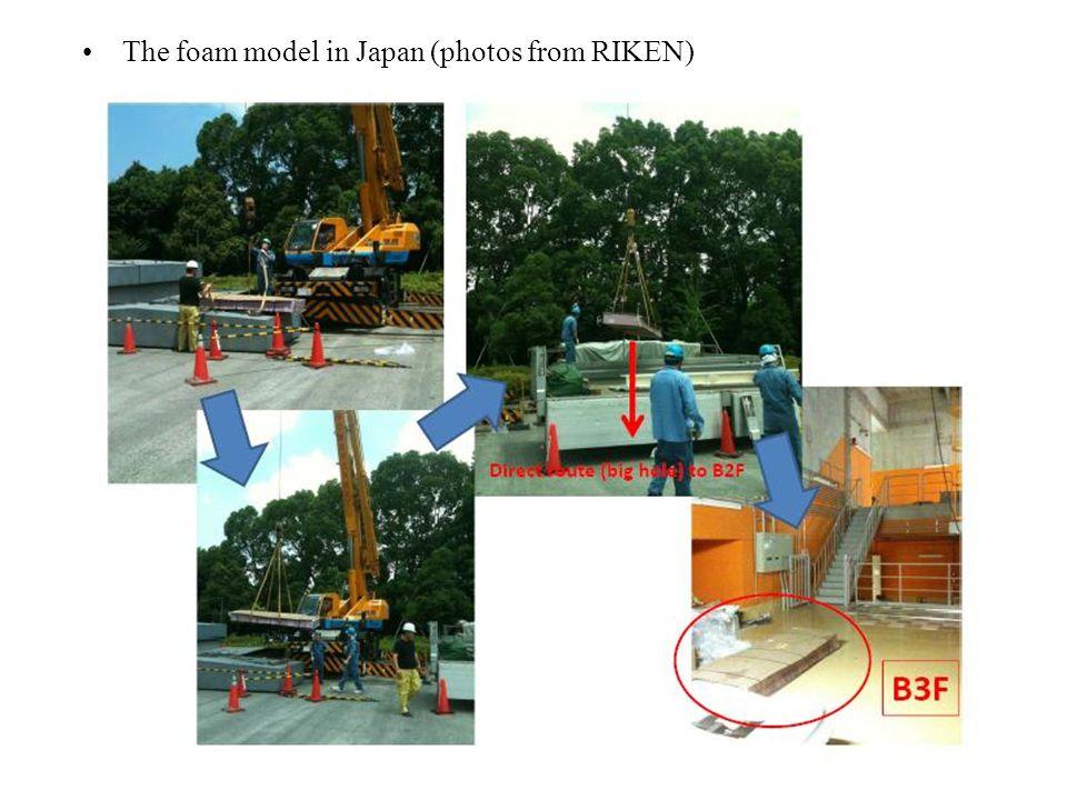 The foam model in Japan (photos from RIKEN)