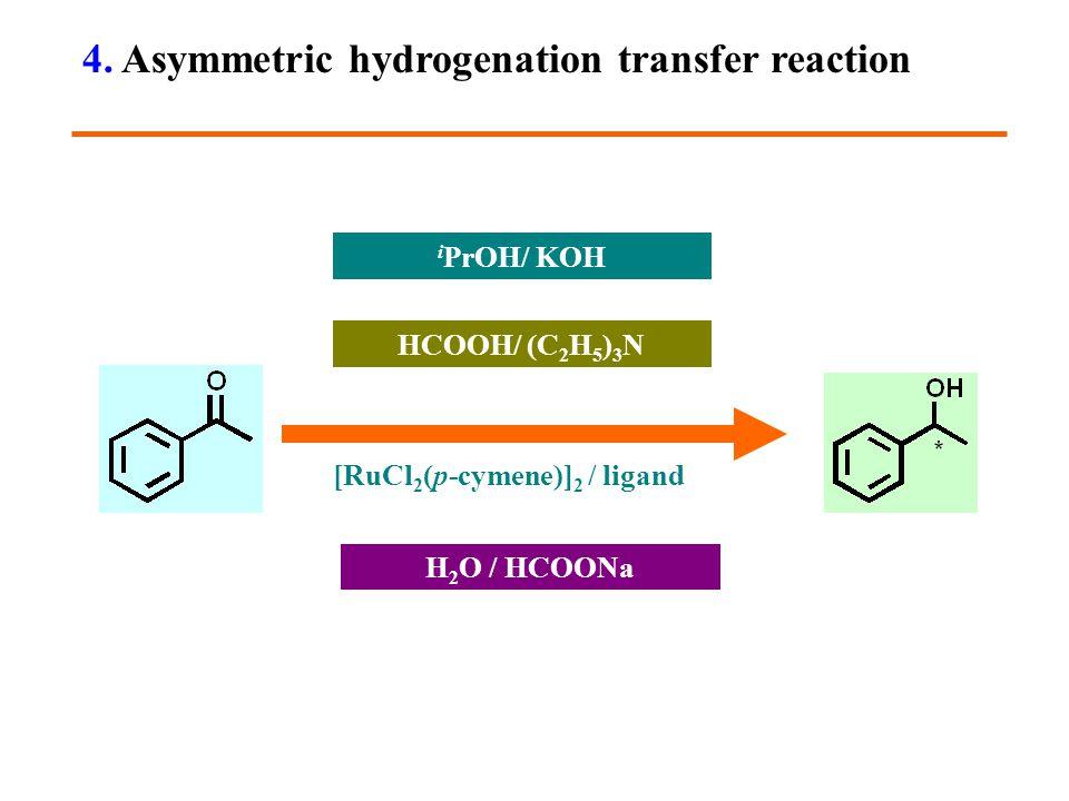 [RuCl 2 (p-cymene)] 2 / ligand i PrOH/ KOH HCOOH/ (C 2 H 5 ) 3 N H 2 O / HCOONa 4.