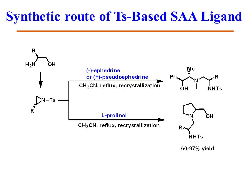 Synthetic route of Ts-Based SAA Ligand