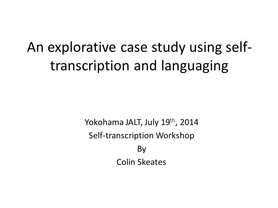 Method Transcripts 1.Students participate in speaking task 4-3-2.