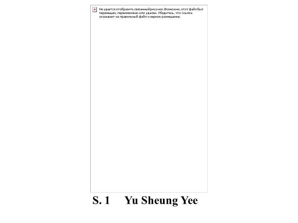 S. 1 Yu Sheung Yee