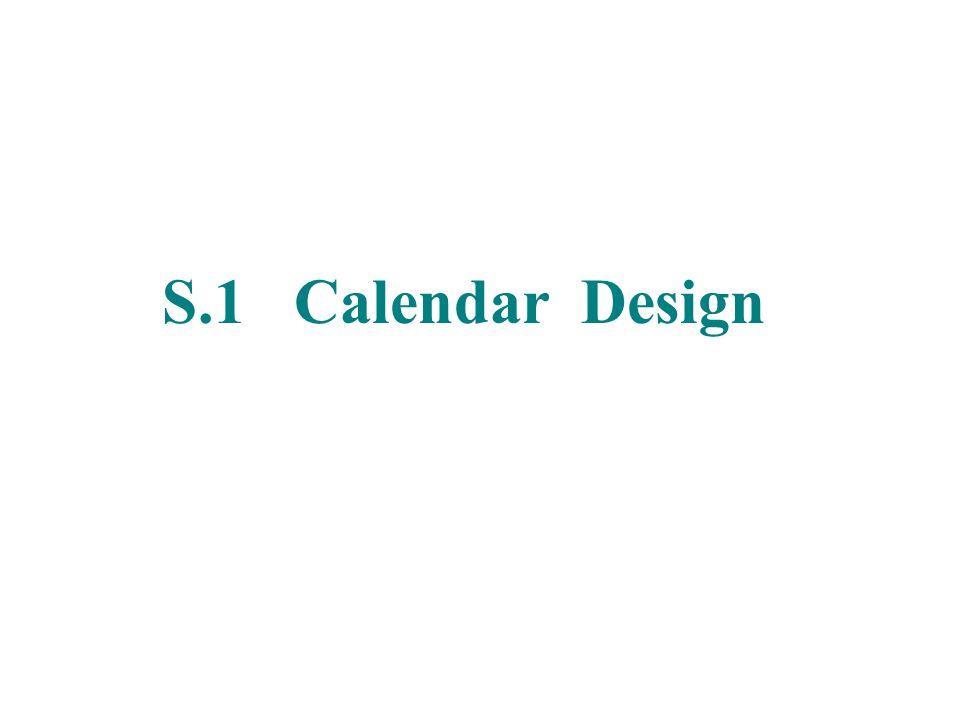 S.1 Calendar Design