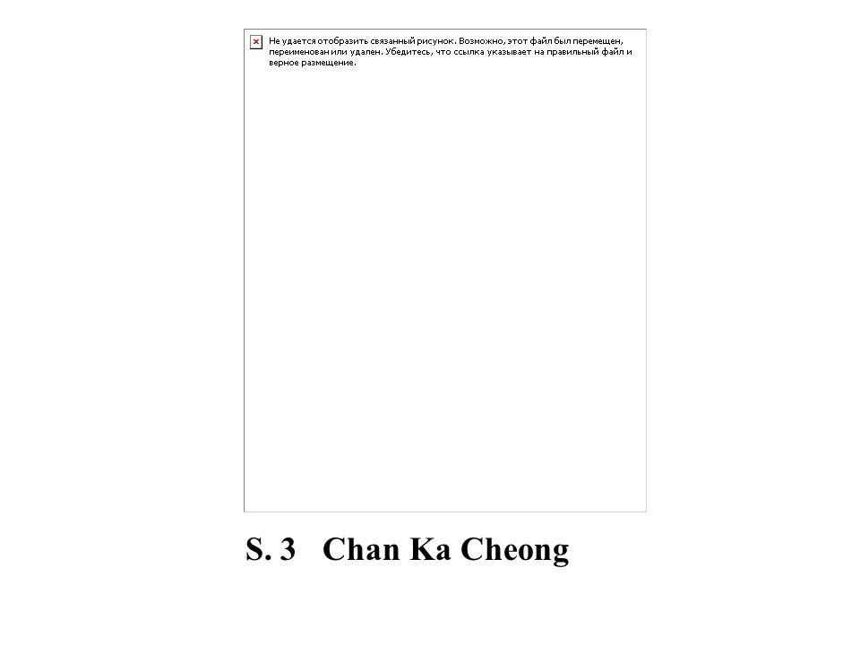 S. 3 Chan Ka Cheong