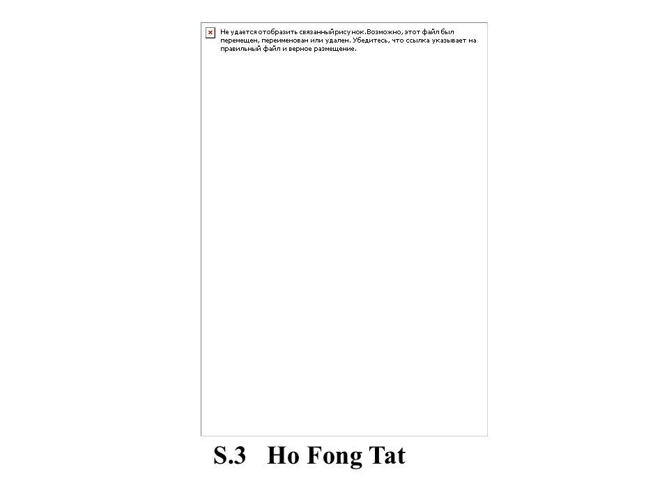 S.3 Ho Fong Tat