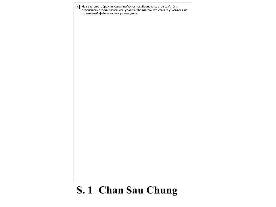 S. 1 Chan Sau Chung