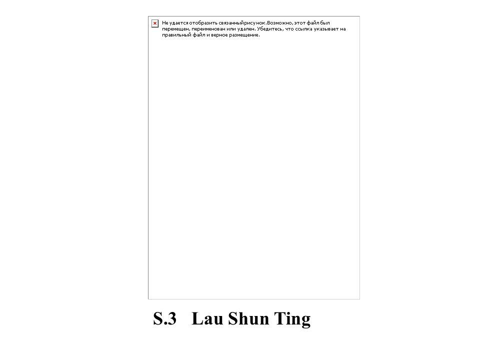S.3 Lau Shun Ting