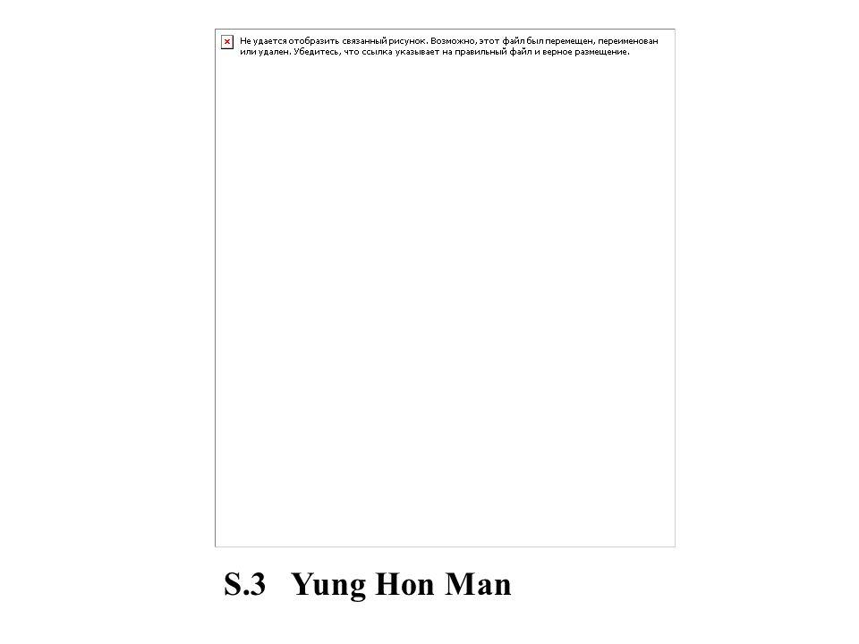 S.3 Yung Hon Man