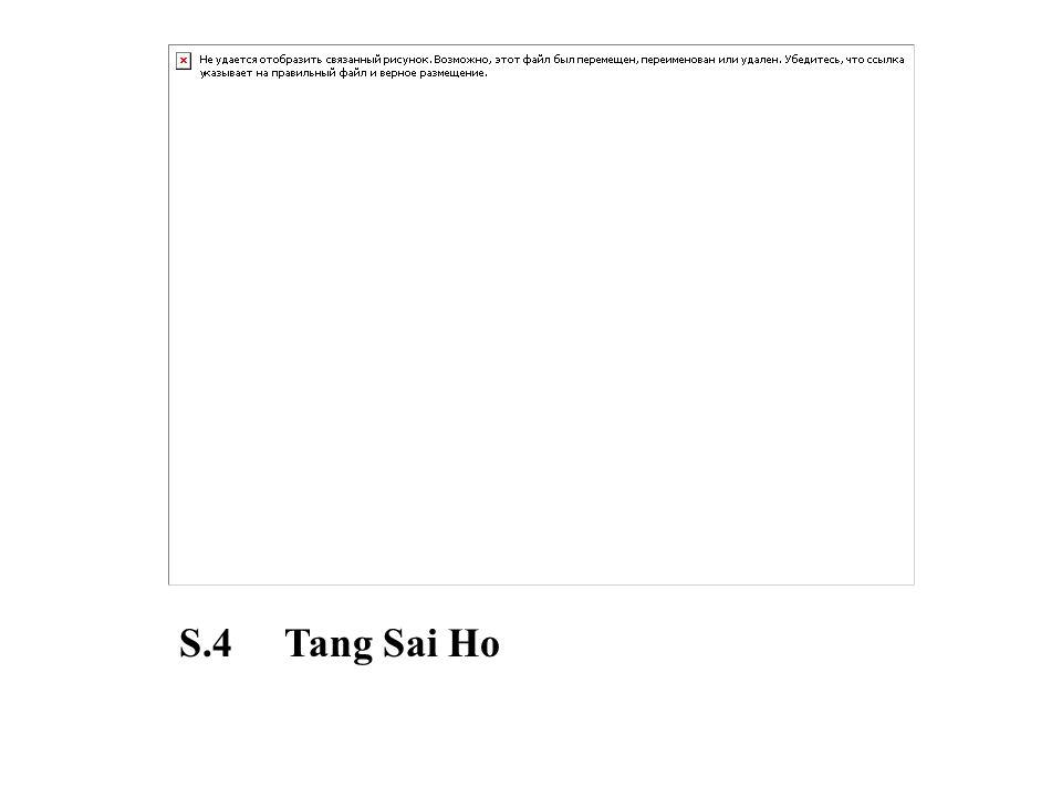 S.4 Tang Sai Ho