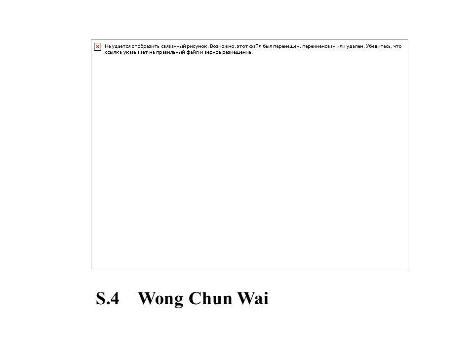 S.4 Wong Chun Wai