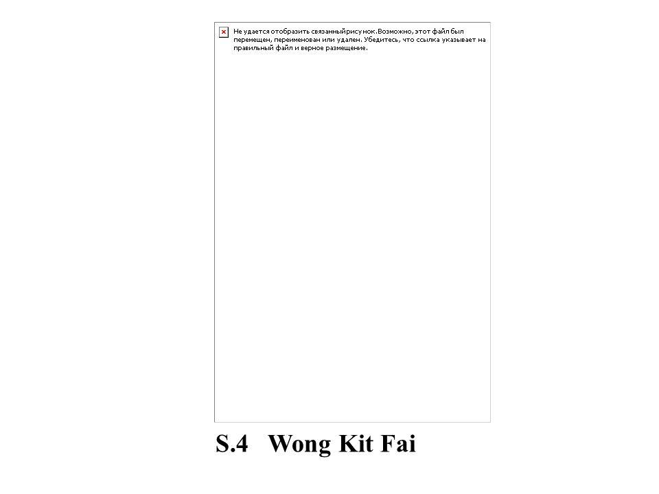 S.4 Wong Kit Fai
