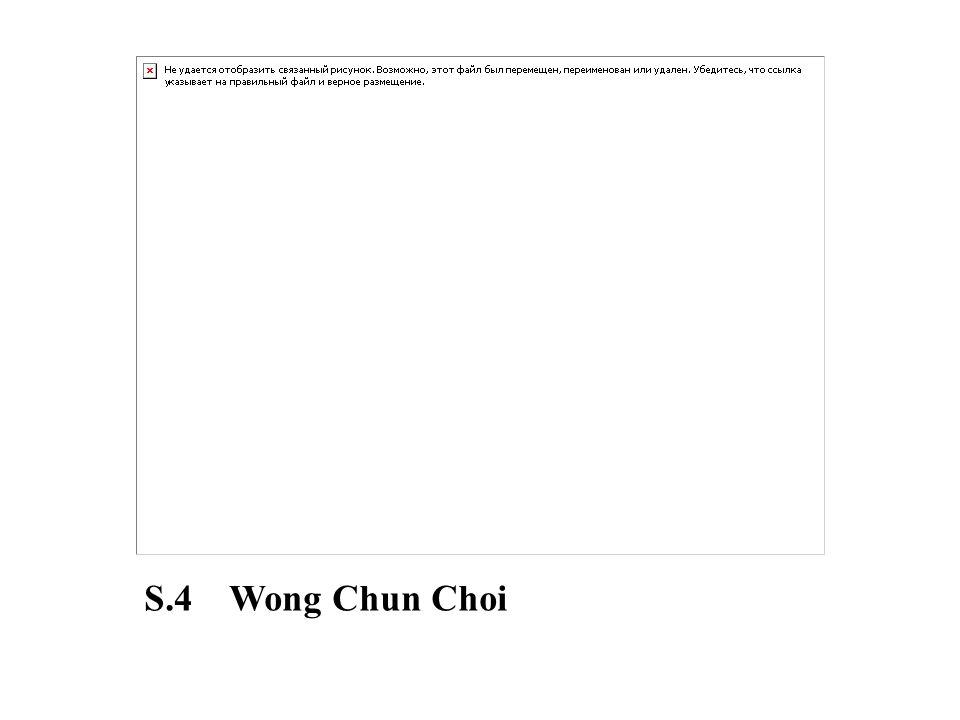 S.4 Wong Chun Choi