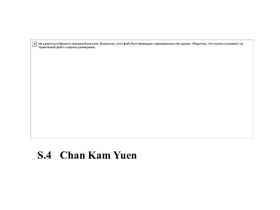 S.4 Chan Kam Yuen