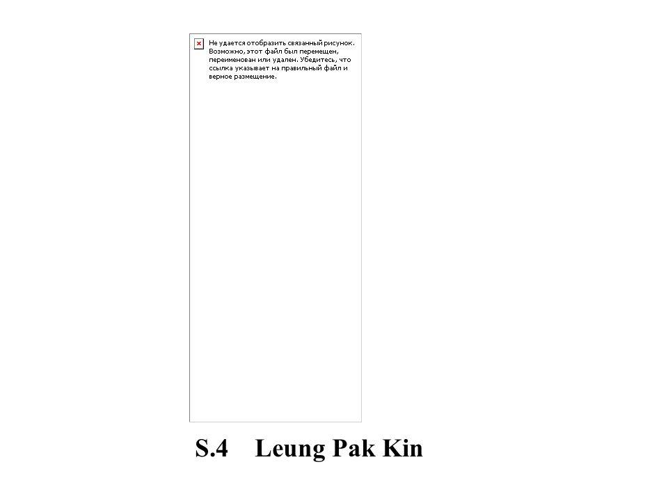 S.4 Leung Pak Kin
