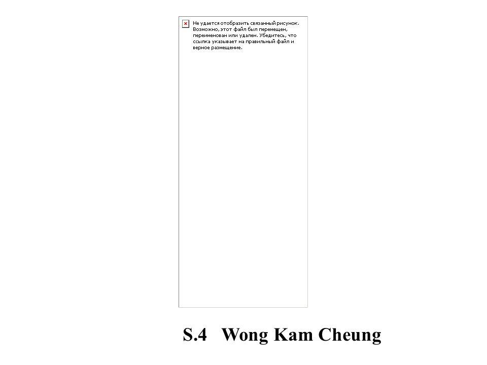 S.4 Wong Kam Cheung