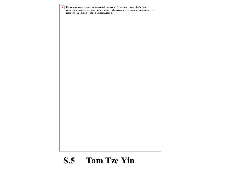 S.5 Tam Tze Yin