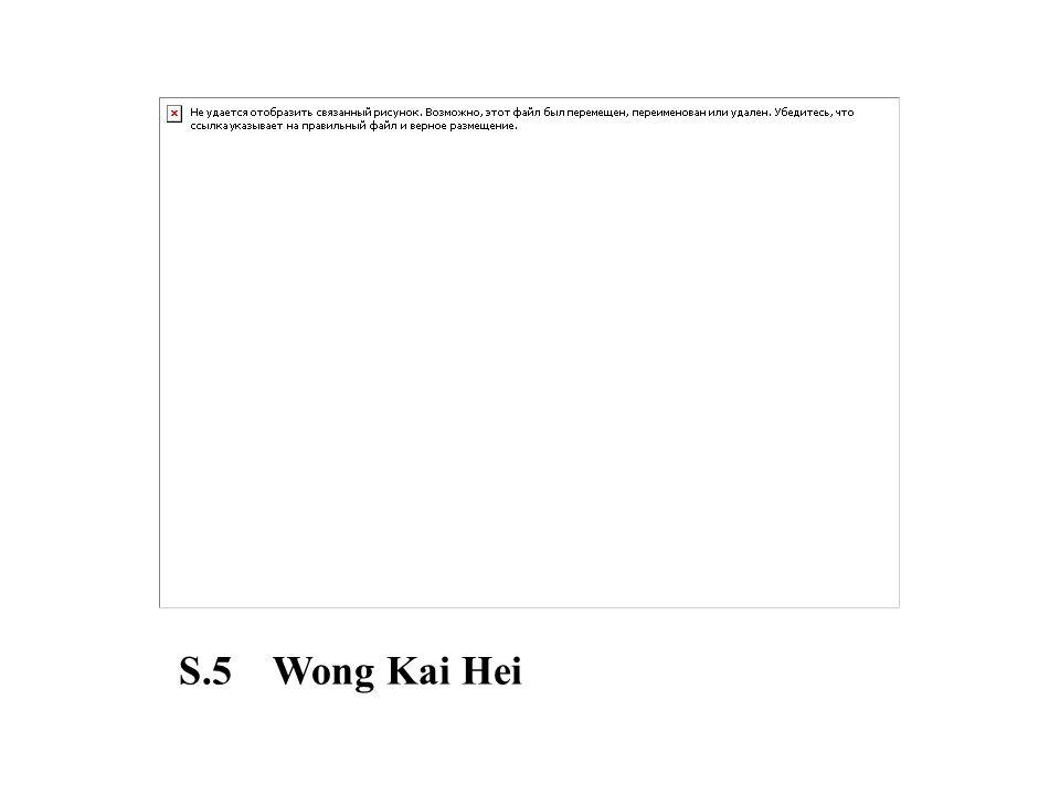 S.5 Wong Kai Hei