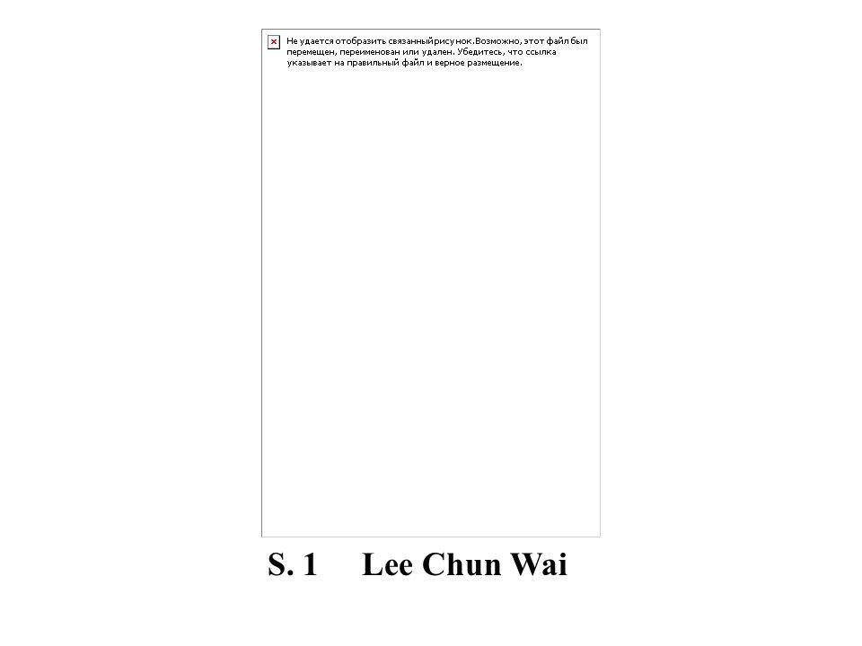 S. 1 Lee Chun Wai